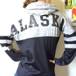 Urban Outfitters Tops - ALASKA Spell Out Across the Back Hoodie Sweatshirt